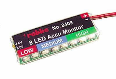 Akkumonitor 8 LED